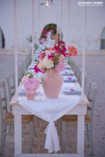 centerpiece for wedding in Masseria Potenti