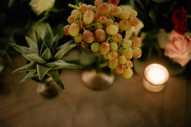 succulent plants for vintage centerpiece
