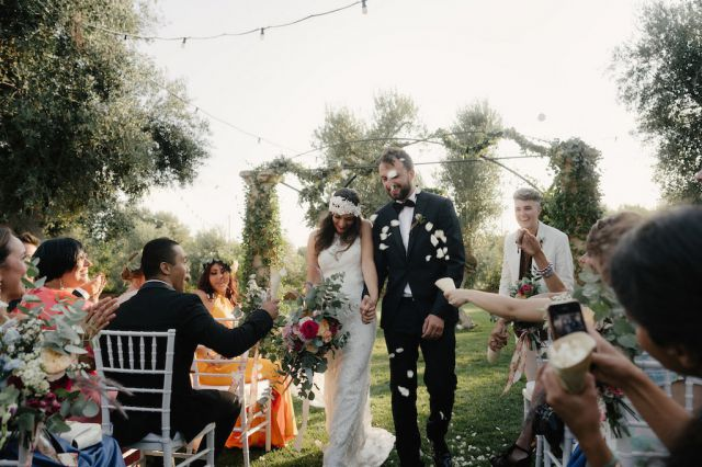 garden wedding ceremony
