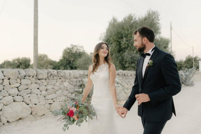bouquet per matrimonio rustic-chic in Puglia