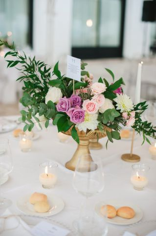 Boho wedding composition of flowers