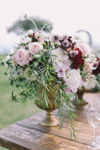 centerpiece details for autumn wedding