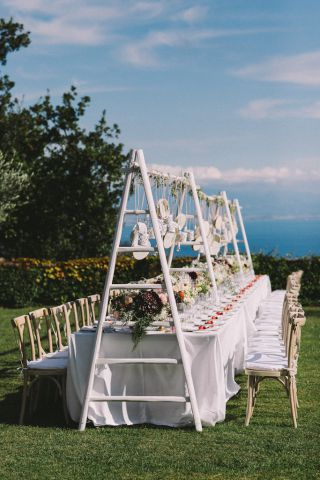 floral decor for wedding destination in Italy
