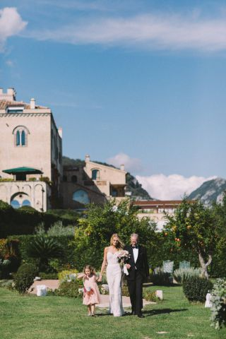 wedding in Italy, at Villa Cimbrone