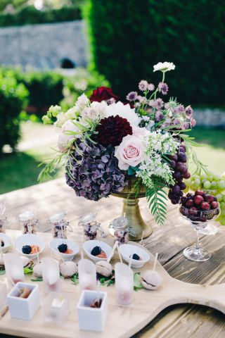 floral decorations for bouffet or aperitif