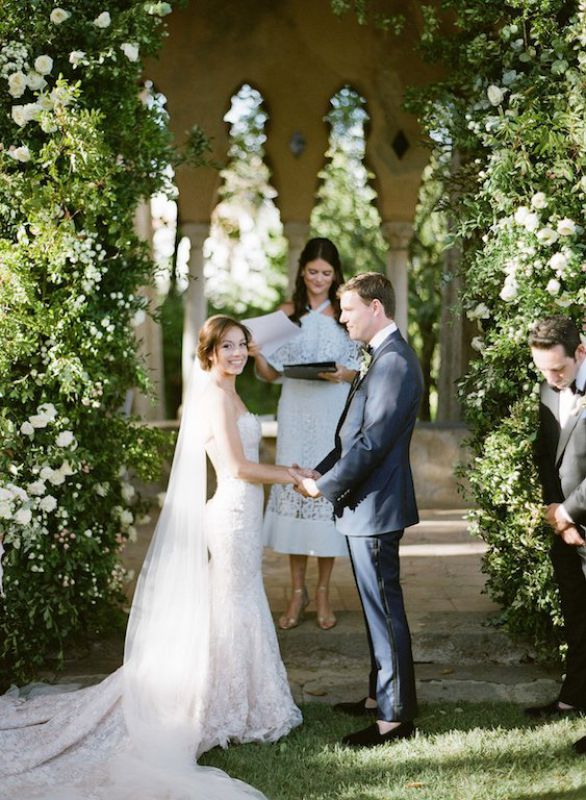 Wedding ceremony in garden style at Villa Cimbrone