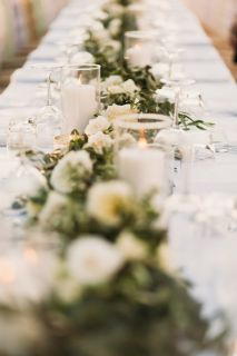 floral centerpiece for long rectangular table