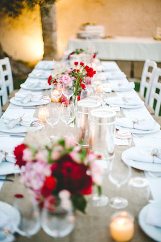 long table centerpiece