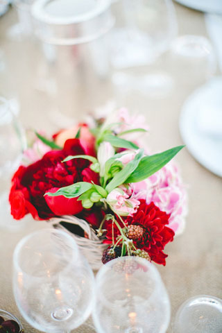 colorful flowers for wedding decor