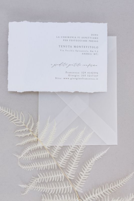 Idea stationary per matrimonio chic
