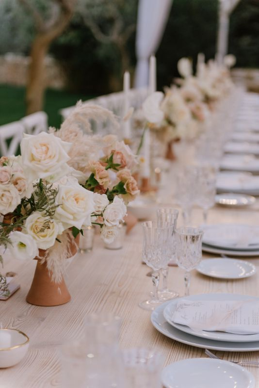 Flowers for long table