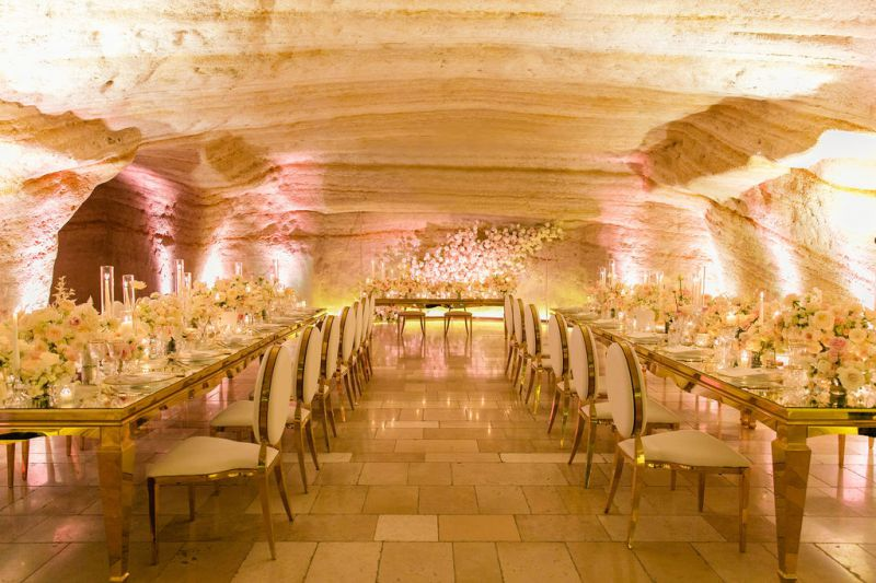 Tablescape for luxury wedding in Italy, Matera