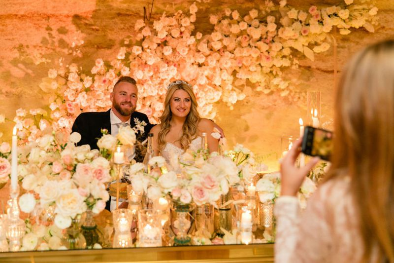 Luxury flower backdrop for the main table