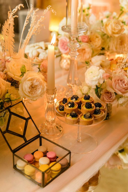 Sweet table idea for wedding in Italy