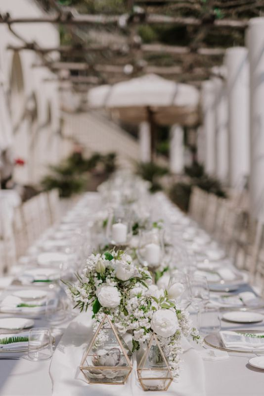 Table decor for wedding in Amalfi