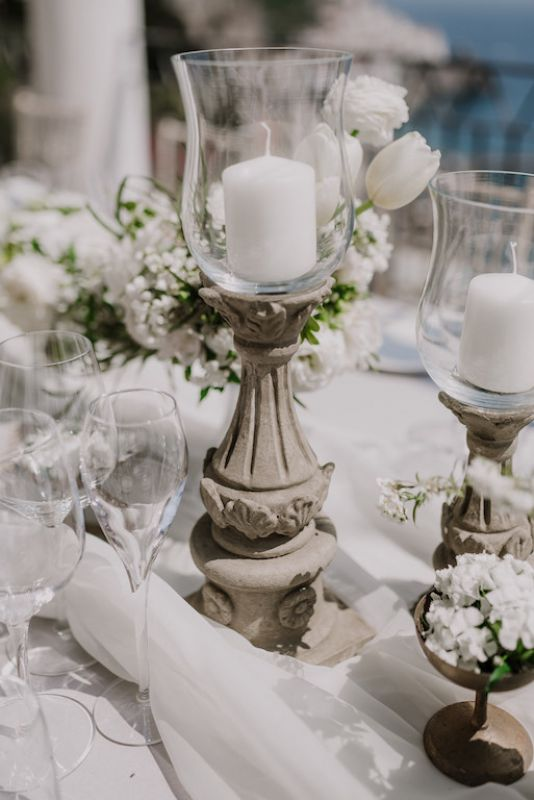 Old candlestick for wedding reception
