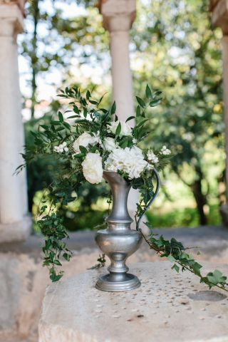 centerpiece for ceremony table
