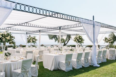 decorazioni per matrimonio all'aperto
