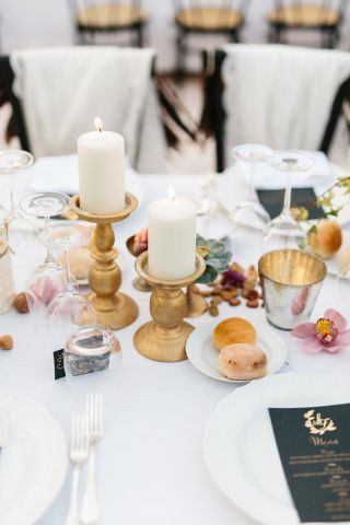 candlesticks for boho wedding