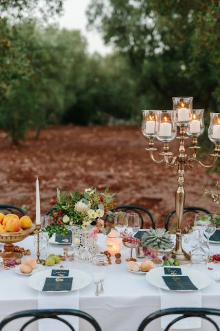 gold candelabra for wedding centerpiece