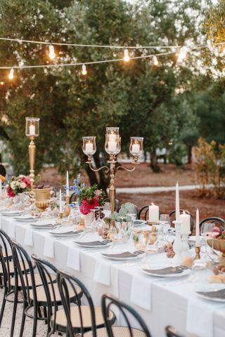 country chic wedding table decoration