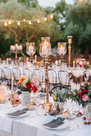 wedding with bohemian decorations