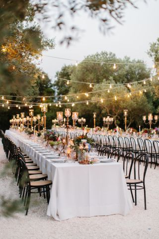 beautiful tablescape for wedding in Italy