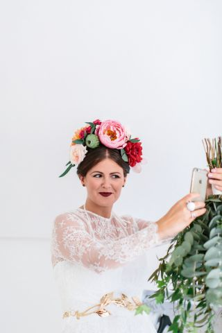 Bridal flowers crown