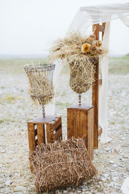 rustic vases for wedding