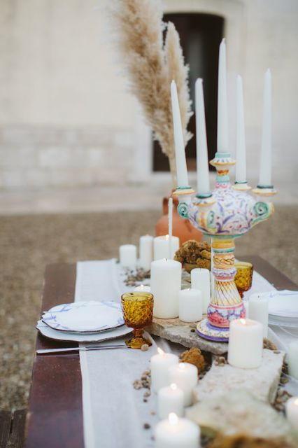 colorful details for wedding in Puglia
