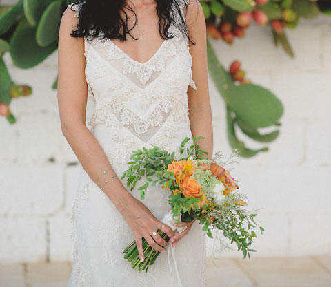orange bride bouquet