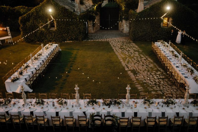 wedding design at castello marchione