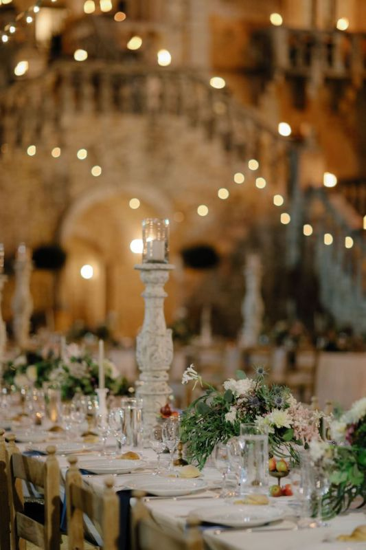 floral designer for wedding at castello marchione, conversano