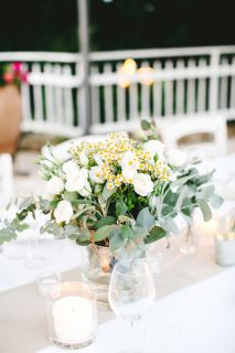 rustic chic centerpiece