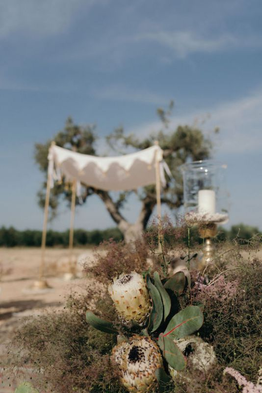 Ceremony with our cuppah in Masseria Potenti