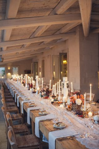 white chandeliers for wedding in masseria