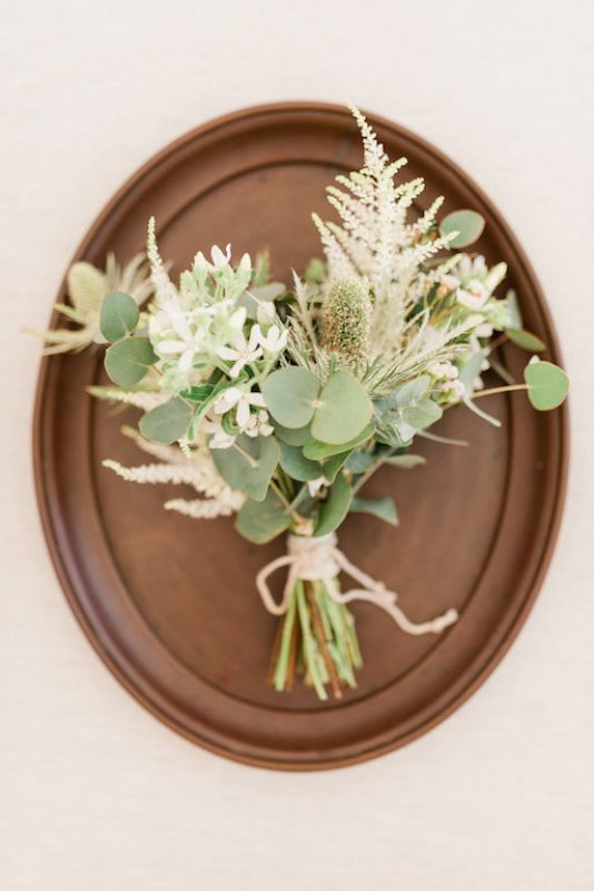Bouquet for the bride in boho chic style