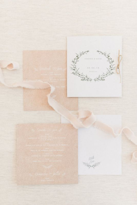 Stationery boho chic pale pink