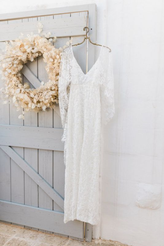 Bridal dress in boho style