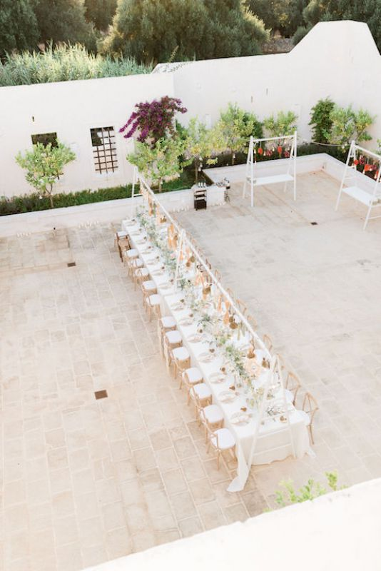 Wedding flowers at Masseria Le Carrube