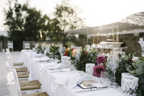 floral decor for wedding reception